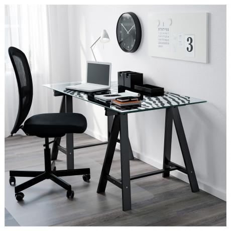 Опора для стола ОДВАЛЬД черный фото 1